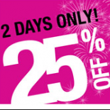 Two days only- 25% off! Jacob is having their annual birthday shopping blitz on September 9th and 10th. Save 25% off their regular-priced fall collection. Valid at Jacob and Jacob...