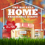 As fall temperatures continue to drop, retailers are lovingly inviting us in to stay warm and shop. Today, Bath & BodyWorks invites you to fill your home with the delicious scents of the season, including Pumpkin Patch, Autumn Apple, Leaves and more!