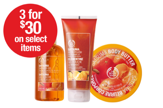 March 25-27, 2011, head to The Body Shop for the 3 for $30 offer. Stock up on your favourite beauty products.
